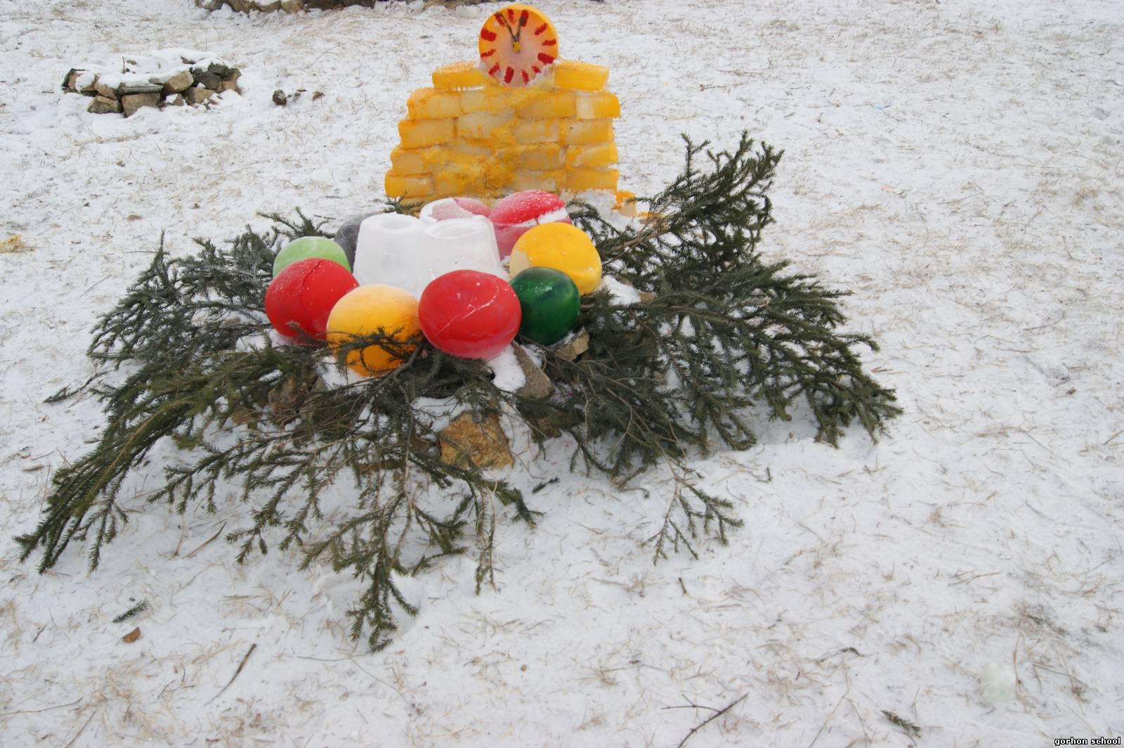 Зимний двор своими руками